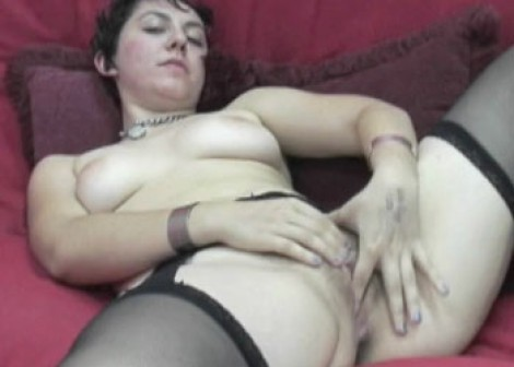 Raven plays with her sweet pussy