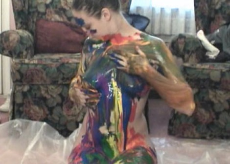 Body painting fun with Danni